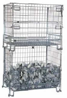 Galvanized Steel Wire Mesh Containers for Lift Truck Uses