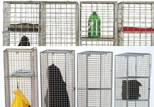 Metal Grid Multi-Tier Security Containers
