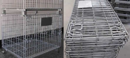 Wire Cages Containers with Pocket Design for Forklift Uses